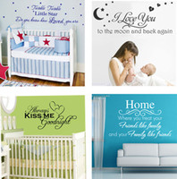 Wholesale Mix order Wall Quotes Decal Words Lettering Saying Wall Decor Sticker Vinyl Wall Art Stickers Decals