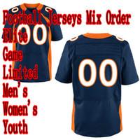 Wholesale 2012 New Football DB blue color Elite Game Limited Jersey Adult Kids Mix order minging1225