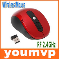 Wholesale Portable Optical Wireless Mouse USB Receiver RF GHz For Laptop PC Keys dpi