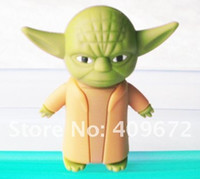 Wholesale star war master yoda USB memory stick U disk gb flash drive thumbdrives pendrives