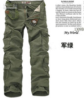 Wholesale MEN S CASUAL PANTS MILITARY ARMY CARGO CAMO COMBAT WORK PANTS TROUSERS Cargo Pants SIZE black