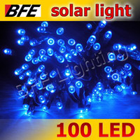 Wholesale 18m LED Blue Solar String Fairy Lights Garden Christmas Summer Party Camping New Year