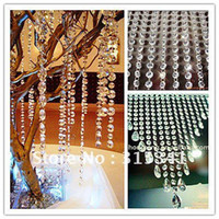 Wholesale crystal strands for wedding decoration wedding centerpiece Christmas tree free bead drop