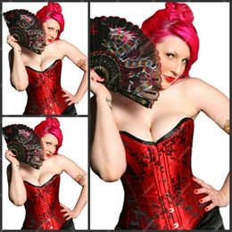 Wholesale C0R Red Black Pattern Sheath Corset Sweetheart Cheap Fashion Corset