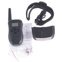 Wholesale 300M Electronic Remote Dog Training Dog Collar Pet Shock Training Collars with LCD display H4380