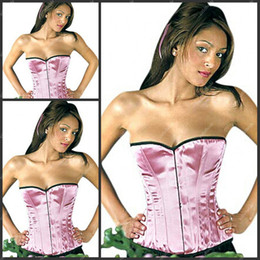 Wholesale C0R Simple Design Strapless Pink Corset For Women With A Low Price