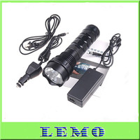 Wholesale HID Lights W LM HID Xenon Flashlight Torch Ultra Bright Waterproof Black