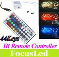 Wholesale 12V Keys IR Remote Controller for RGB LED Strip Light SMD DIY Led Light Controller