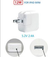 For Apple Power charger For Ipad Mini new 12W 2.4A USB Power wall charger adapter for iPad iPad 2 and New iPad mini