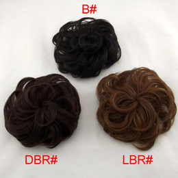 Wholesale 2012 Flower Style Hair Bun Chignon Heat Resistant Synthetic Fiber Colors Available