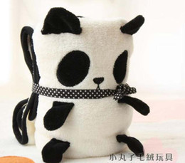 Wholesale Children s blankets Panda small pillow Blanket Coral carpet nap pillow