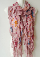 Wholesale NEW ladies knitting scarf cheap woman scarf color lady printed scarf quality