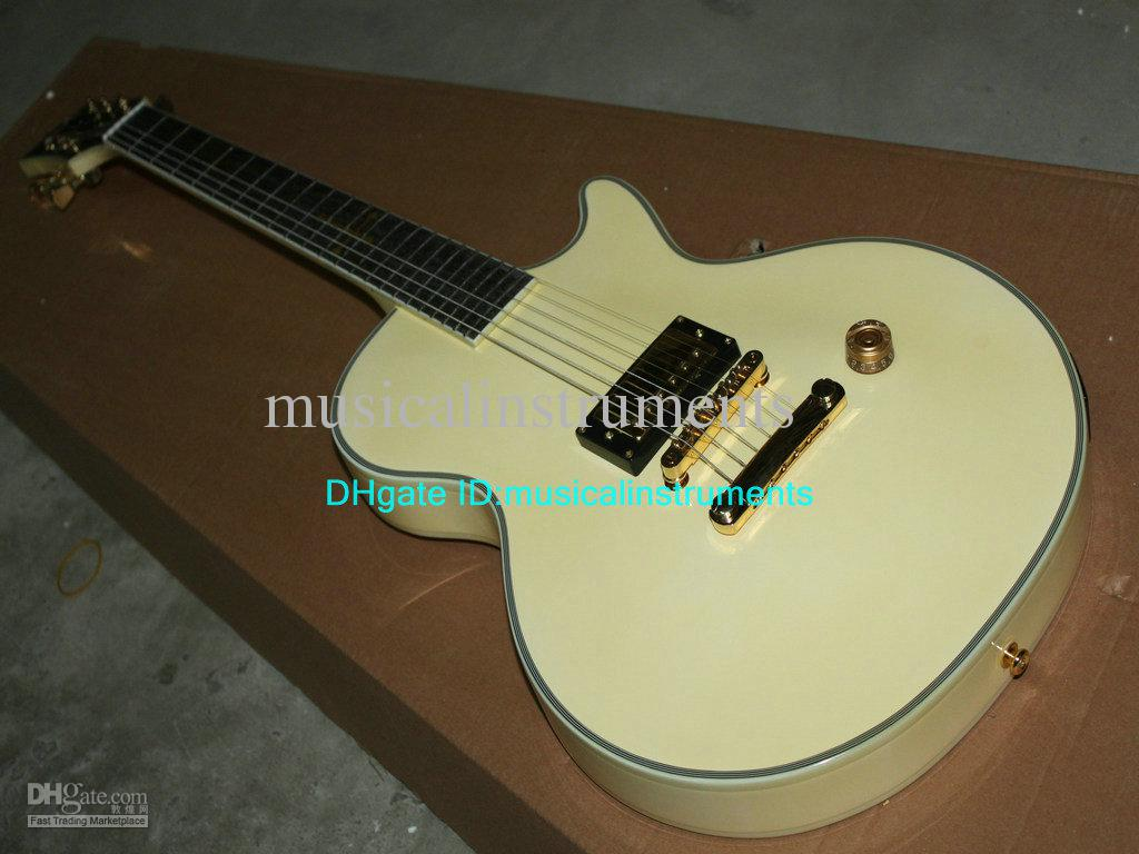 New Arrival Cream One Pickup Electric Guitar Mahogany High Quality ...