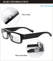Wholesale New most cover spy glasses camera x720P HD video recorder built in GB Resolution X1200