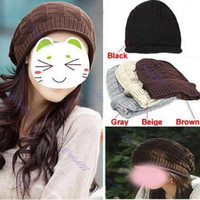 Wholesale Fashion Warm Winter Women Beret Beanie Crochet Hat Ski Cap Knit Knitted Colors