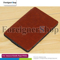 Wholesale 50 For Amazon Kindle PaperWhite Ebook Reader Leather Back Hard Shell Case Cover With logo