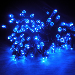 Wholesale 17M LED Solar Powered Fairy String Lights Waterproof Party Xmas Garden Blue