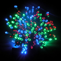 Wholesale 17M LED Solar Powered Fairy String Lights Waterproof Party Xmas Garden RGB mixed