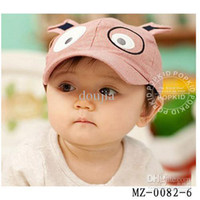Wholesale baby spring peak hat children baseball cap kids sun hat child sun hat kids cotton cap MZ