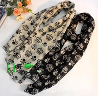 Wholesale 2012 New Crown Skull and Crossbones Pattern Long Scarf Female Scarf