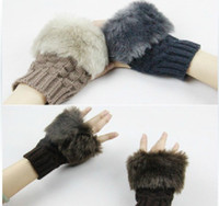 Wholesale Christmas Gifts Fashion Knitted Gloves Fingerless Gloves Fashion Fingerless Gloves Warm Gloves
