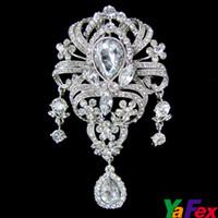 Wholesale Retail Hot Sales Pageant Crowns Crystal Brooch Wedding Bridal Brooches Pin WA88