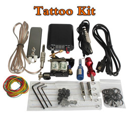 Wholesale Complete Equipment Tattoo Machines Power Supply Gun Color Inks Tattoo Kit Set