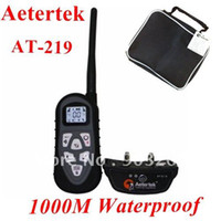 Wholesale DHL Free Set AT High Quality Vibrate And Electric Shock Collar Waterproof Remote Trainin