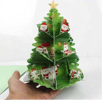 Wholesale NEW Christmas Greeting Cards D Xmax Gift Card Handmade Creative Christmas Accessories
