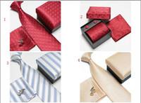 Polka Dots silk tie and handkerchief - Fast shipping Man necktie Silk Men ties Necktie Box tie men s ties handkerchief and cufflinks
