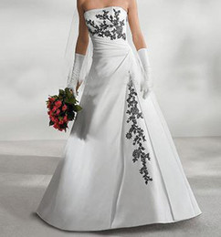 Wholesale 30 Starpless Satin amp Embroidery Court Train Wedding dress Bride dresses