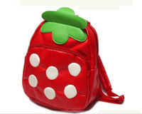 Wholesale Lovely Strawberry Cartoon School Bag Backpack Backpacks Children s Bags for Baby Kids