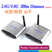 4 Channel wireless video transmitter receiver - 2 GHz GHz Audio Video AV Wireless Transmitter Receiver IR Signal CH M Groups Of Channels