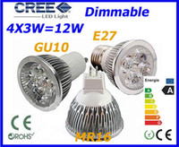 Wholesale Free ship Dimmable LED Lamp GU10 MR16 E27 X3W W Light Bulbs High Power light
