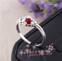 Wholesale MIC Nice Silver Plated Mix Style Rhinestone Rings