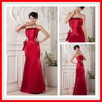 Sexy Stylish Mermaid Strapless Red Wine Long Cheap Special P...