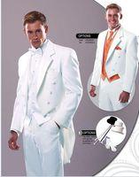 Cheap Custom Made white wedding suits groom suits Groom Wear 4 pieces( jacket +pants+ vest +tie) 0352