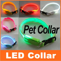 Wholesale Glow LED Dog Collar Luminous LED Pet Collar colors choice