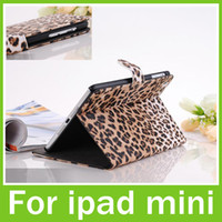 For Apple For Ipad Mini Leather For ipad Mini Case Leather Leopard Smart Cover 7.9 inch High Quality Cheap Gifts Free DHL Shipping