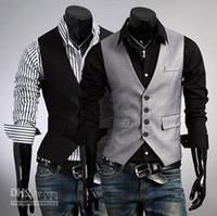 Wholesale New Fashion men s Vests Slim Vest Outwear casual vest