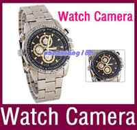Wholesale 16GB Waterproof Watch Camera DVR P HD Digital Video watch hidden camera Free DHL