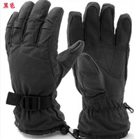 Wholesale Ski Gloves Cycling Gloves New Me black Winter Warm Fleece gloves outdoor Winter Gloves