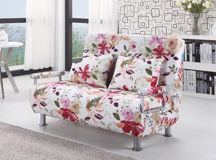 2017 polyester cloth sofa bed modern style floral pattern for Floral sofa bed
