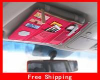 Wholesale Easy Installation Sun Visor Pouch Receive Saddlebag Multi function Car Hang Bag Card Bag Stuff Sacks