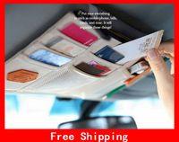 Wholesale Most Fashion Car Sun Visor Pouch Receive Saddlebag Multi function Car Hang Bag Card Bag Stuff Sacks