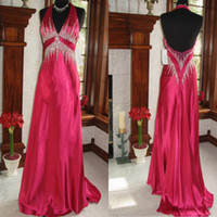 ball gown pattern free - HIgh Quality Dark Red V neck Beading Sweep Sexy Prom Gown Evening Dress Hot Ball Gown