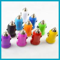 Free shipping 10pcs lot car mini USB universal charger for i...