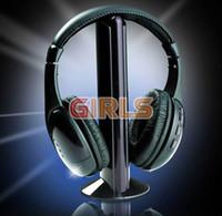5 в 1 HIFI Беспроводные наушники наушники гарнитуры беспроводной монитор FM-радио для MP4 PC TV аудио