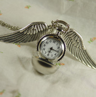 Wholesale Harry potter silver ball Shell Pocket Watch Necklace womens man boy girl lady new With
