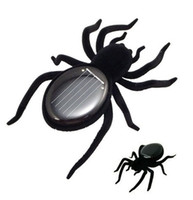 Wholesale 10pcs Solar Powered Spider Educational Toys Solar Legs Spider Black